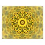 Modelo de la mandala del fractal del girasol del h foto