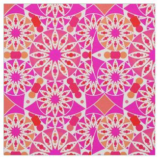 Modelo de la mandala, sombras del rosa y coral telas