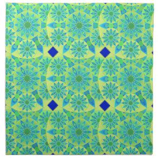 Modelo de la mandala turquesa azul verde lima servilletas