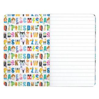 Modelo de la manía del alfabeto de Disney Cuaderno Grapado