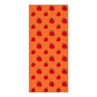 Modelo de la manzana del rojo anaranjado lonas personalizadas