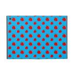 Modelo de la manzana del rojo azul de cielo iPad mini funda