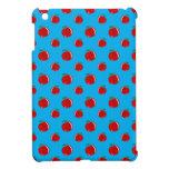 Modelo de la manzana del rojo azul de cielo iPad mini fundas