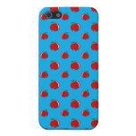 Modelo de la manzana del rojo azul de cielo iPhone 5 cárcasa