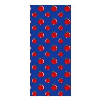 Modelo de la manzana del rojo azul plantilla de lona