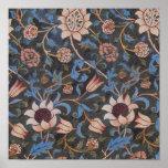 Modelo de la materia textil de William Morris Even Posters