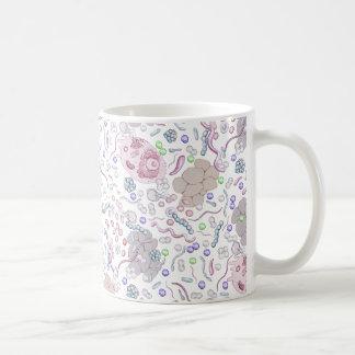 Modelo de la microbiología taza de café