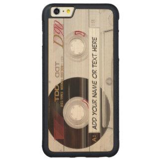 Modelo de la mirada de la cinta de casete de funda de arce bumper carved® para iPhone 6 plus