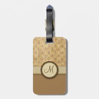 Modelo de la moneda de la arena del trigo con el m etiquetas para equipaje