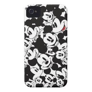 Modelo de la muchedumbre de Mickey Case-Mate iPhone 4 Protectores