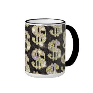 Modelo de la muestra de dólar de los diamantes de  taza de café