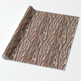 Modelo de la naturaleza de la corteza de árbol papel de regalo