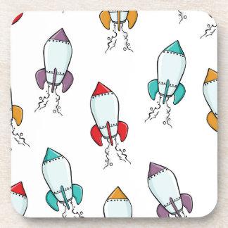 Modelo de la nave de Rocket del dibujo animado Posavaso