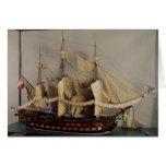 Modelo de la nave 'L'Achille Tarjeta De Felicitación