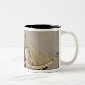 Modelo de la nave 'L'Achille Taza De Dos Tonos