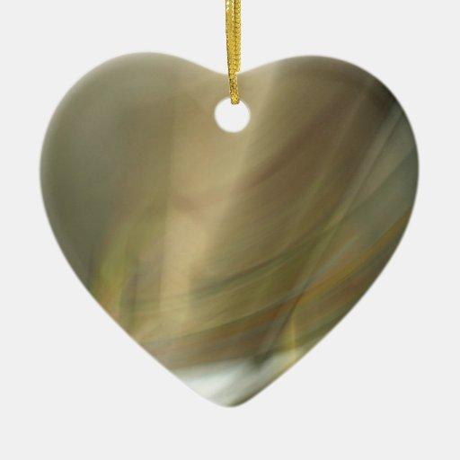 Modelo de la nube del gas adorno navideño de cerámica en forma de corazón