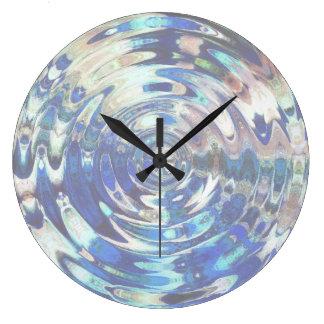 Modelo de la ondulación del elemento del AGUA Reloj Redondo Grande