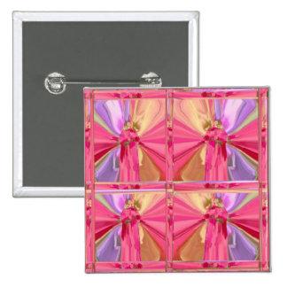 Modelo de la pantalla de la mariposa - arte del pin cuadrada 5 cm