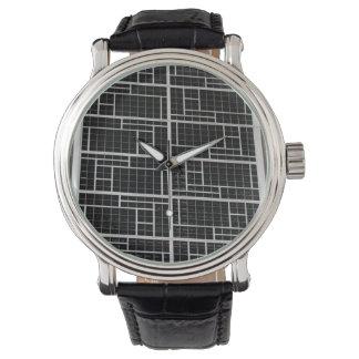 Modelo de la pared de la arquitectura reloj de mano