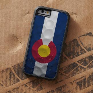 Modelo de la pelota de golf de la bandera de funda de iPhone 6 tough xtreme