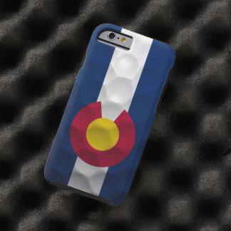 Modelo de la pelota de golf de la bandera de funda de iPhone 6 tough