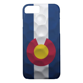 Modelo de la pelota de golf de la bandera de funda iPhone 7