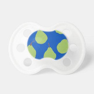 modelo de la pera azul y verde chupetes de bebe