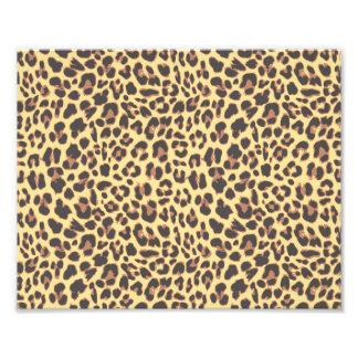 Modelo de la piel animal del estampado leopardo fotografía