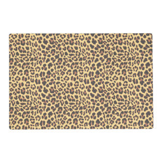 Modelo de la piel animal del estampado leopardo tapete individual