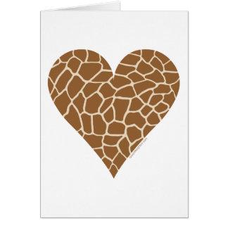 Modelo de la piel, colores de la jirafa tarjeta de felicitación