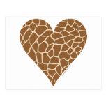 Modelo de la piel, colores de la jirafa tarjeta postal