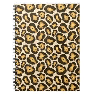 Modelo de la piel de Jaguar Cuadernos