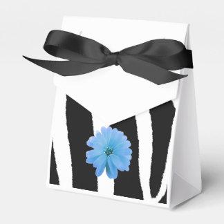 Modelo de la piel de la cebra con la flor cajas para regalos de fiestas