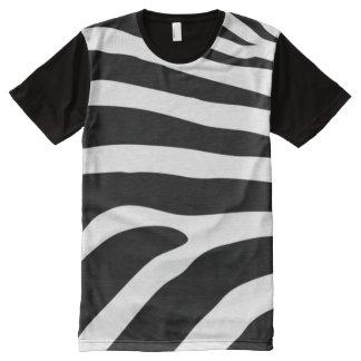 Modelo de la piel de la cebra por todo la camiseta