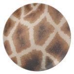Modelo de la piel de la jirafa - piel animal platos para fiestas