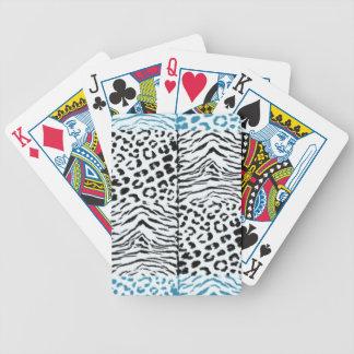 Modelo de la piel del animal salvaje cartas de juego