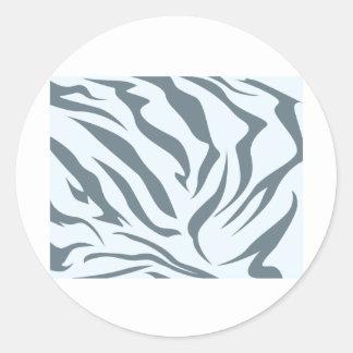 Modelo de la piel del Hyena rayado Etiquetas Redondas