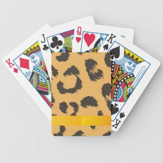 Modelo de la piel del leopardo baraja de cartas