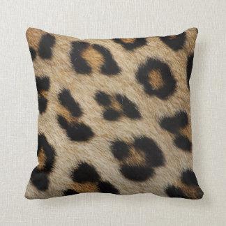 Modelo de la piel del leopardo cojin