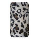 Modelo de la piel del leopardo iPhone 4 cárcasa