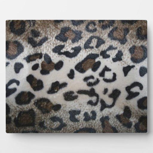 Modelo de la piel del leopardo placa
