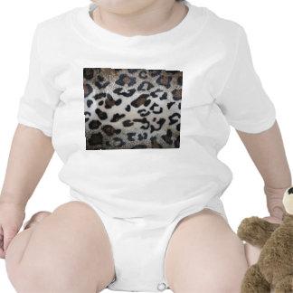 Modelo de la piel del leopardo camiseta