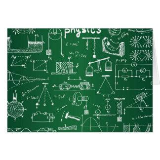 Modelo de la pizarra de la física tarjeta pequeña