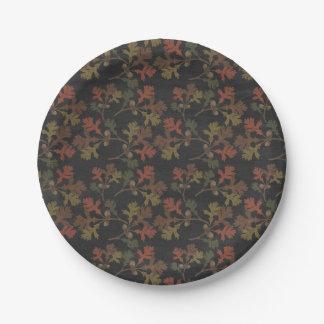 Modelo de la pizarra del otoño de la acción de platos de papel