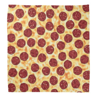 Modelo de la pizza de salchichones bandana
