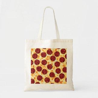 Modelo de la pizza de salchichones bolsa tela barata