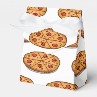 Modelo de la pizza de salchichones; Comida Caja Para Regalo De Boda