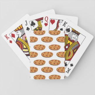 Modelo de la pizza de salchichones; Comida italian Cartas De Póquer