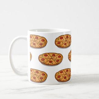 Modelo de la pizza de salchichones; Comida italian Taza De Café