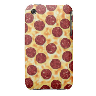 Modelo de la pizza de salchichones iPhone 3 Case-Mate funda